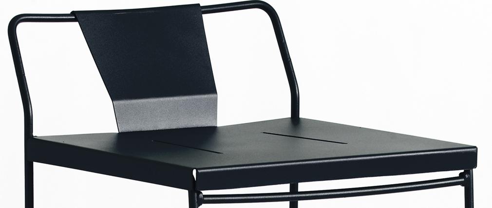 Tabouret extérieur design métal noir 65 cm TENERIFE