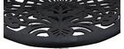 Tabourets de bar design avec motif baroque noir (lot de 2) BAROCCA