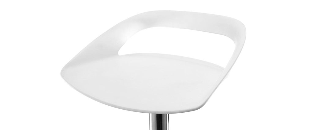 Tabourets de bar design blanc (lot de 2) PHENIX