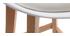 Tabourets de bar design blanc et bois H65 cm (lot de 2) PAULINE