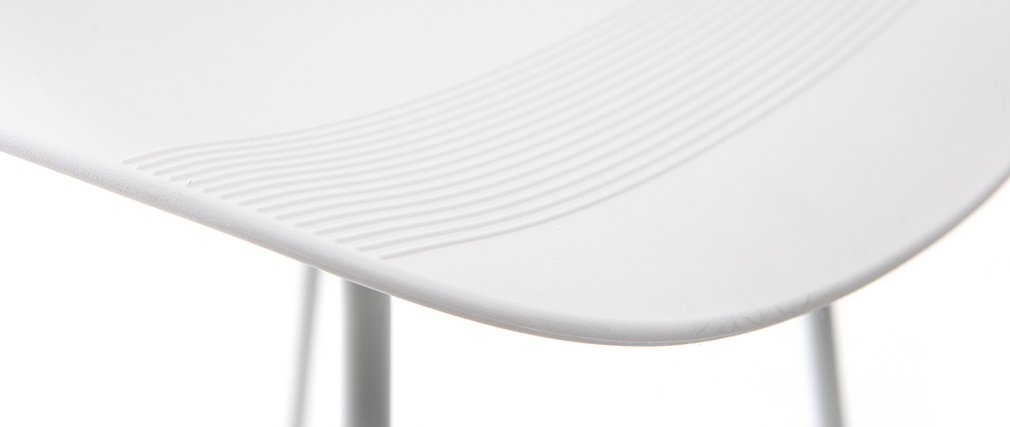 Tabourets de bar design blancs (lot de 2) STELLA