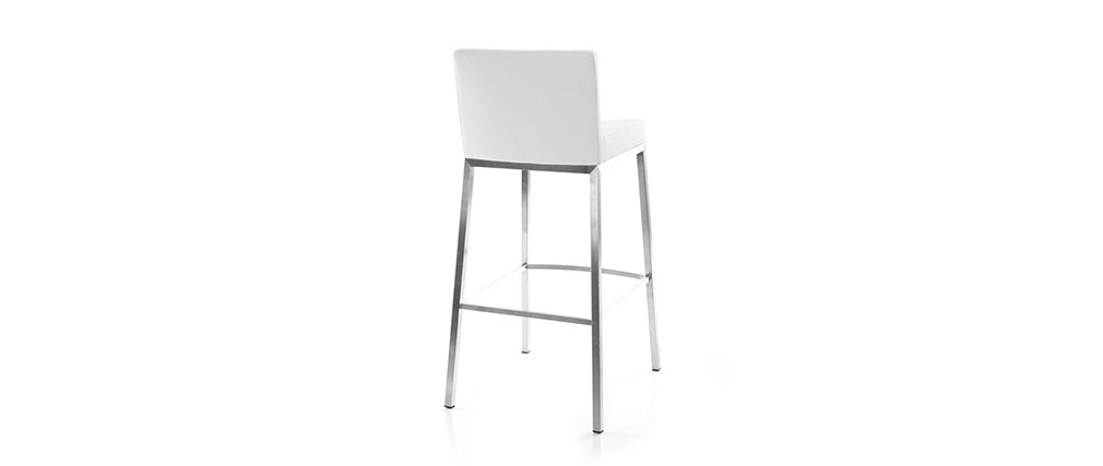 Tabourets de bar design blancs 76 cm EPSILON (lot de 2)