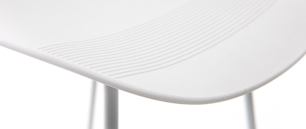 Tabourets de bar design blancs H65 cm (lot de 2) ELLA