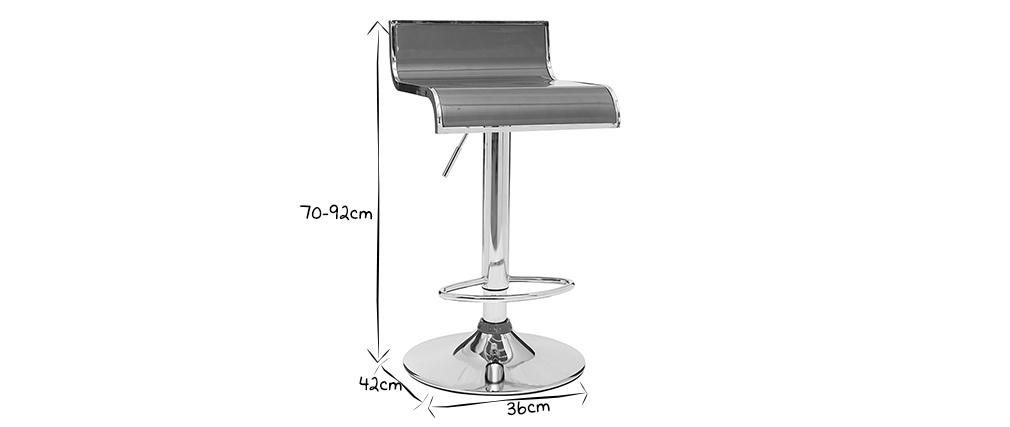 Tabourets de bar design blancs WAVES (lot de 2)