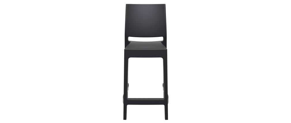 Tabourets de bar design empilables noirs 65 cm (lot de 4) CALAO