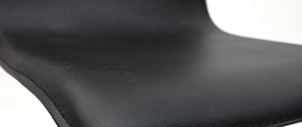 Tabourets de bar design noirs (lot de 2) SURF ALTO