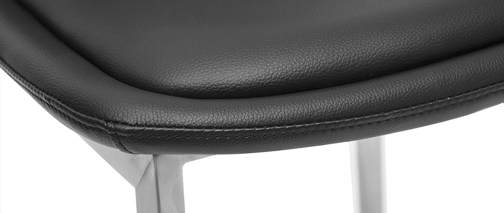 Tabourets de bar design noirs 66 cm (lot de 2) ARSENE