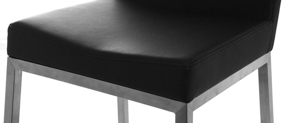 Tabourets de bar design noirs 76 cm EPSILON (lot de 2)