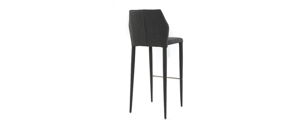Tabourets de bar empilables gris (lot de 2) KARLA