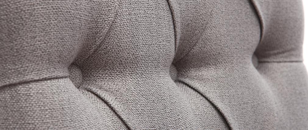 Tabourets de bar en tissu gris clair H75 cm (lot de 2) RIVOLI