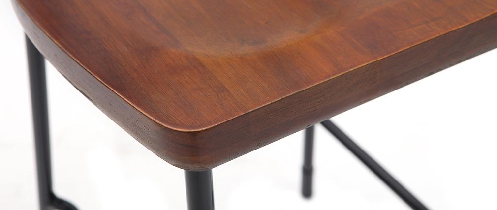 Tabourets de bar industriels métal et bois 65 cm (lot de 2) OUDIN