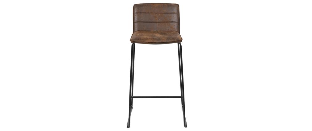 Tabourets de bar vintage marron (lot de 2) CLINT