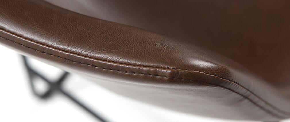Tabourets de bar vintage marrons H61 cm (lot de 2) NEW ROCK