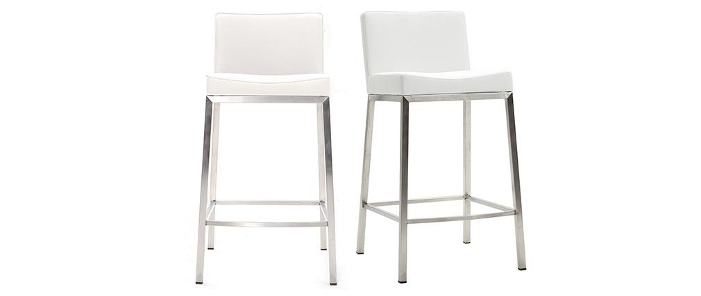 Tabourets design blanc H66 cm (lot de 2) EPSILON