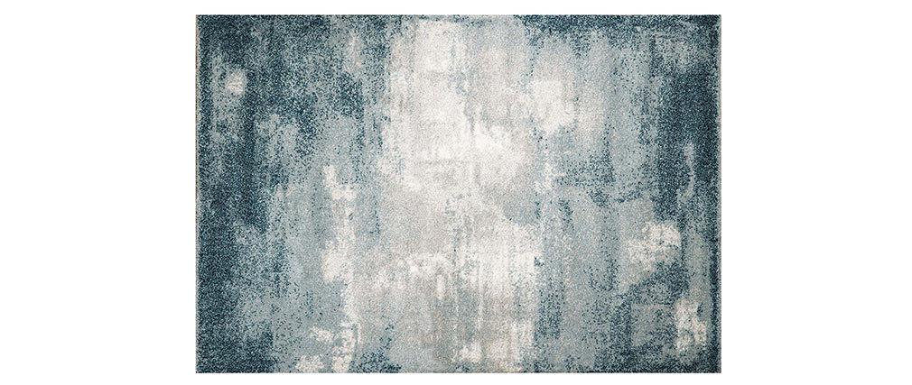 Tapis bleu moderne en polypropylène 160x230 cm WAPI