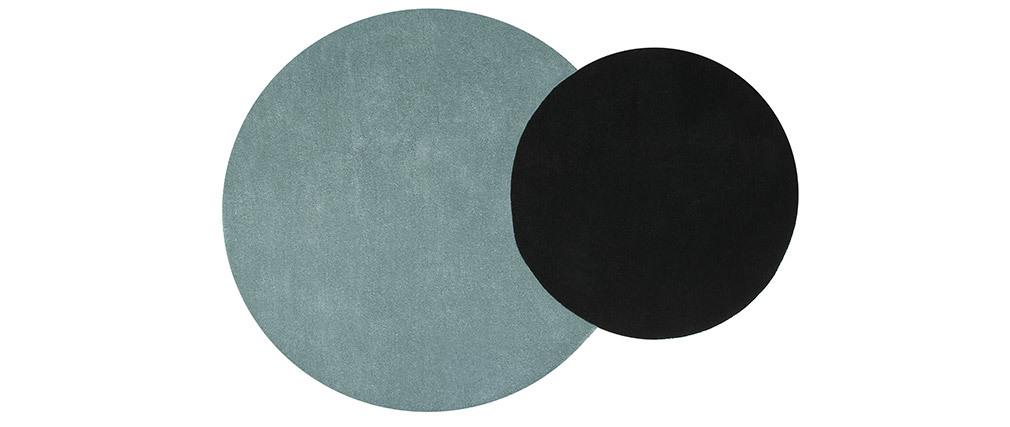 Tapis double bleu et noir 140x200cm ECLIPSE