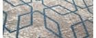 Tapis écru à motifs bleu 160 x 230 cm SOHO