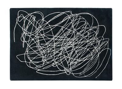 Tapis noir et blanc 170x240cm SCRIB
