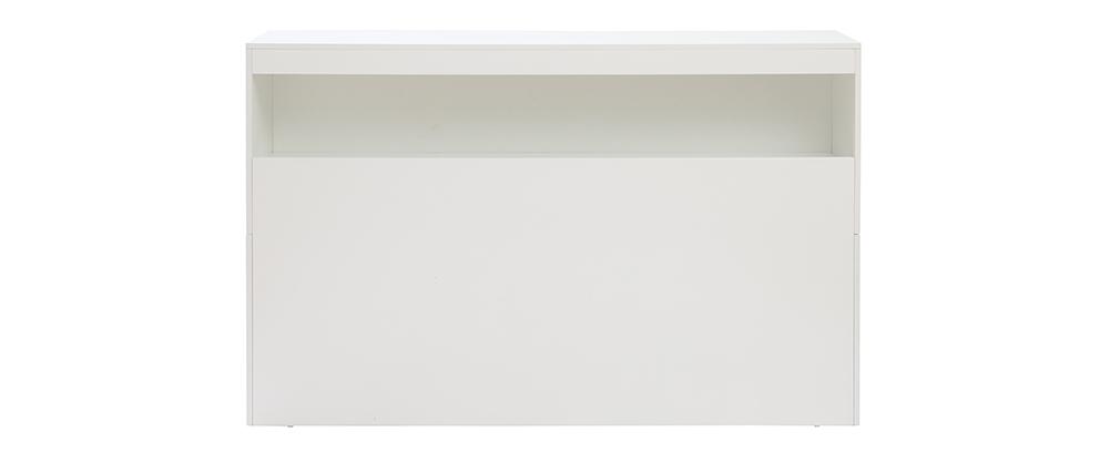 Tête de lit avec rangements blanche 160 cm HYPNOS