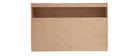 Tête de lit avec rangements bois clair 160 cm HYPNOS