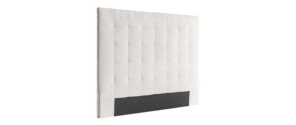 Tête de lit capitonnée en tissu beige 140 cm HALCION