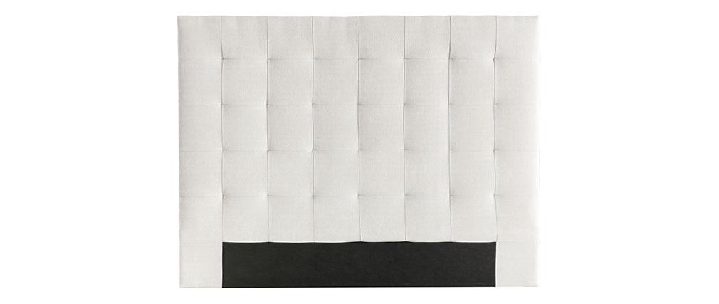Tête de lit capitonnée en tissu beige 160 cm HALCIONA