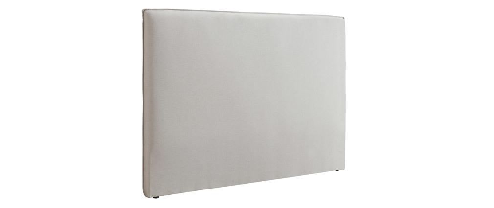 Tête de lit design en tissu beige 176 cm ATHENA