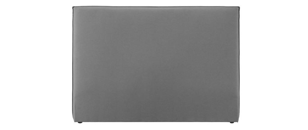 Tête de lit design en tissu gris clair 176 cm ATHENA