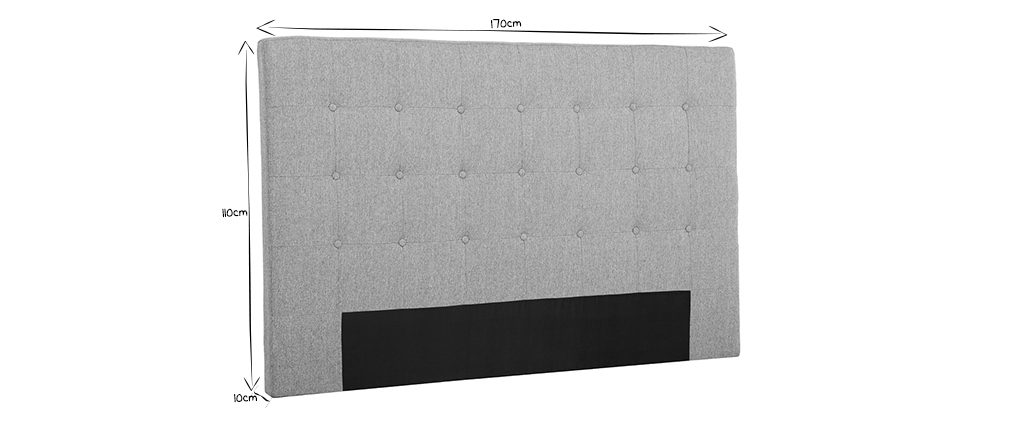Tête de lit en tissu bleu canard 170 cm LUTECE
