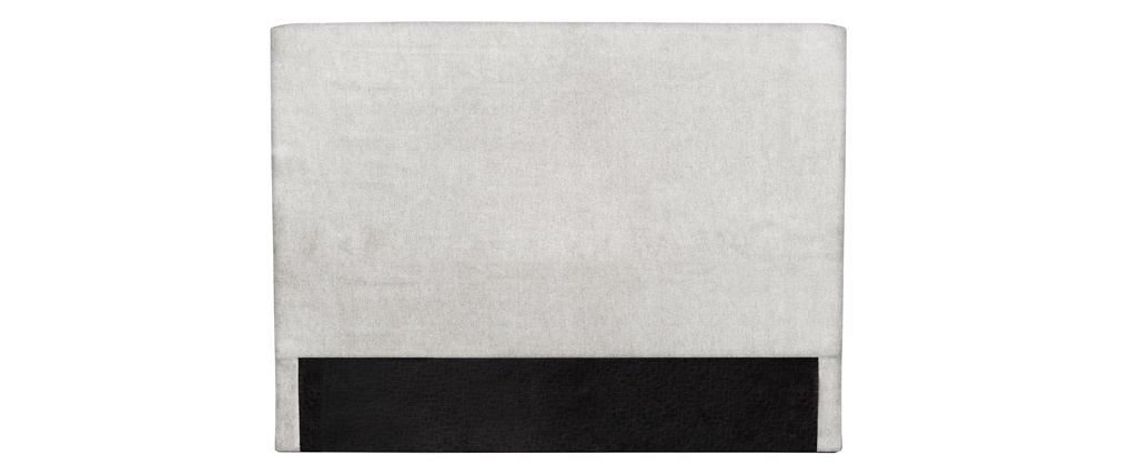 Tête de lit en tissu gris perle 160 cm ZORYA