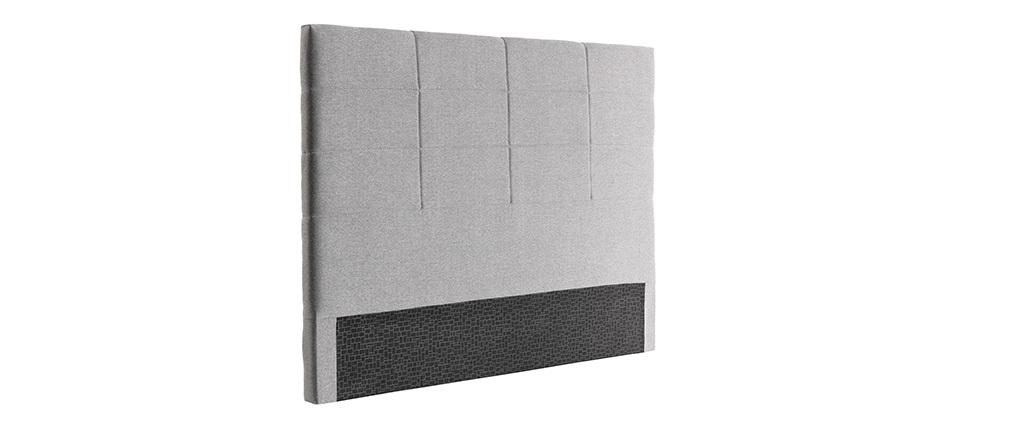Tête de lit moderne en tissu gris 160 cm ANATOLE