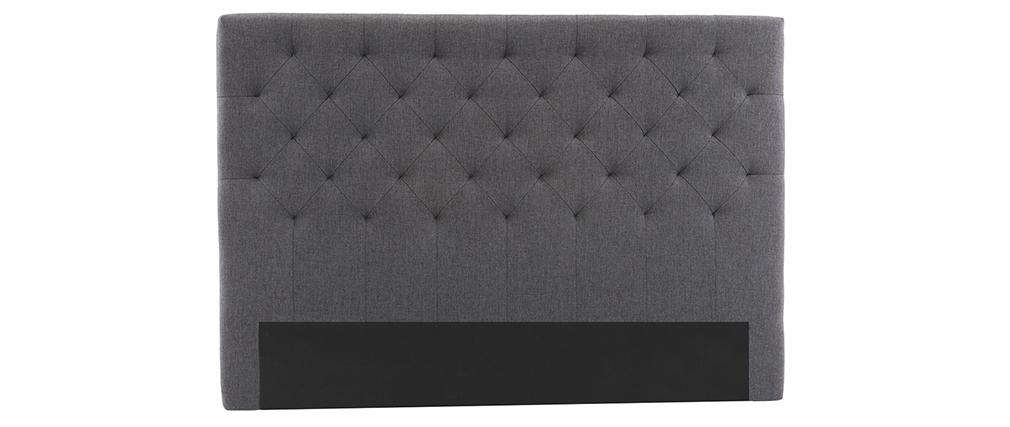 Tête de lit tissu gris foncé 160 cm ENGUERRAND